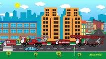 Enfants pour machines dessins animés dessin animé dessins animés pro vidéos de formation de camion de pompiers e
