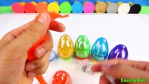 Y dulces huevos huevos huevos divertido gigante Aprender arco iris sorpresa con minnie