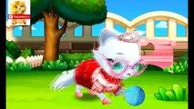 Para mejores juegos de niños de las historietas de dibujos animados sobre animales de los niños sobre un gato
