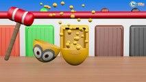 Surprise Eggs Nursery Rhymes Toys | Hammer 3D - Games | Learn Colours & Eggs Garage