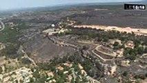 INCENDIE __ Vidéo exclusive _ la zone dévastée par l'incendie vue du ciel Hd Fulltv 2017 & 2018