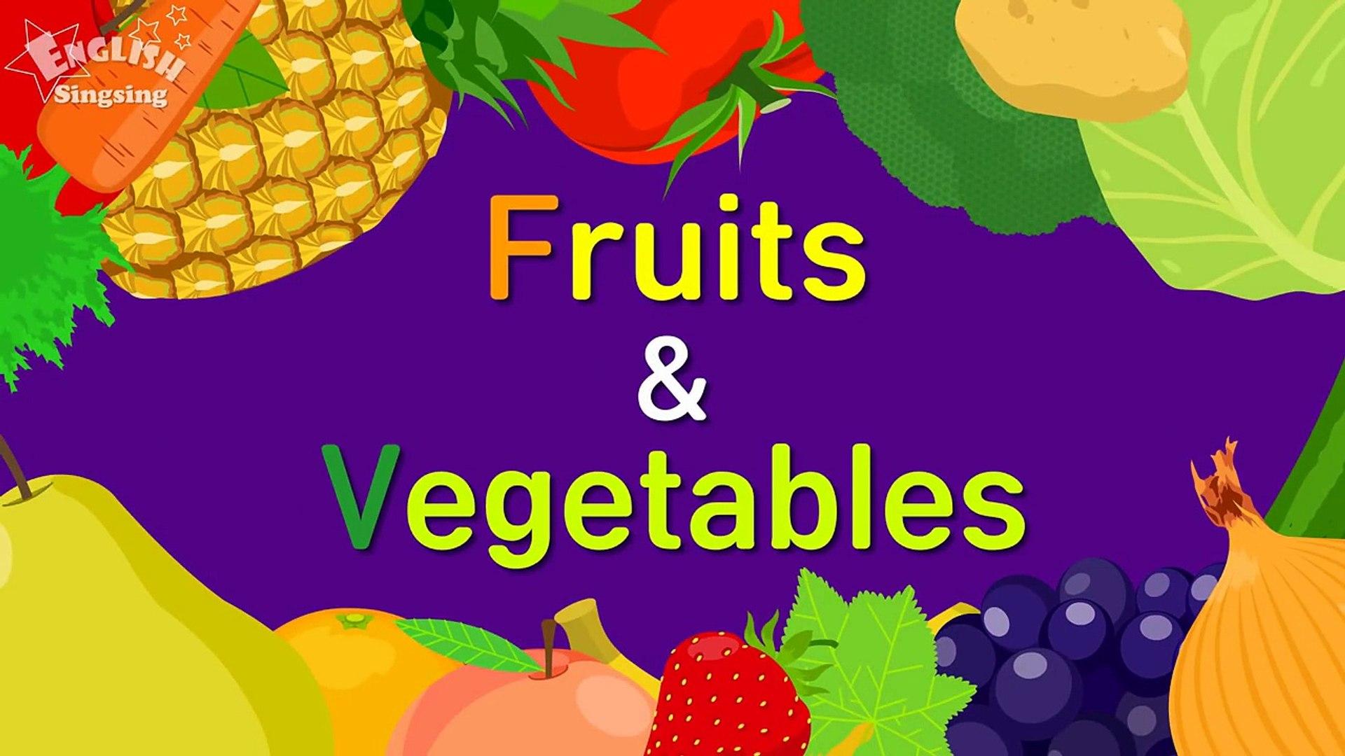 Дети запас слов фрукты и овощи Узнайте английский для Дети английский образовательных в