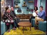 Samantha Mumba in leather pants on The Six OClock Show April 2017