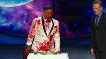 Bruce Campbell Cuts Conans Sandwich, Evil Dead Style CONAN on TBS