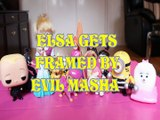 ELSA GETS FRAMED BY EVIL MASHA & THE BEAR BOWSER SKYE GIDGET  SWIPER ROCHELLE AGNES GRU MOANA Toys Kids Video FROZEN DIS