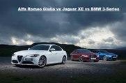 Alfa Romeo Giulia vs Jaguar XE vs BMW 3-Series