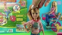 Poupée chiots balade tourner sur avec Barbie jeu chiot chien vélo poupée barbie jeu ♥ n
