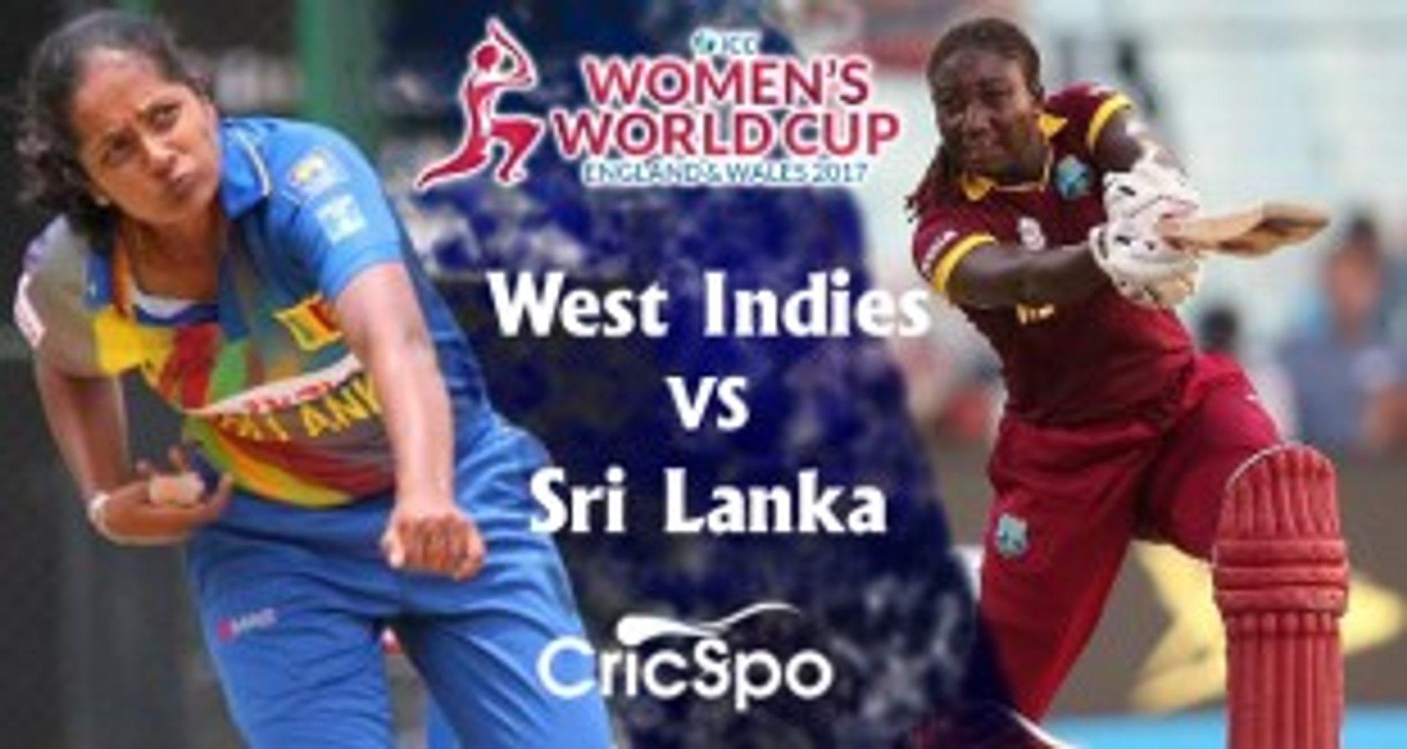 ICC Women World Cup 2017 West Indies Women vs Sri Lanka Women, 20th Match Live Stream