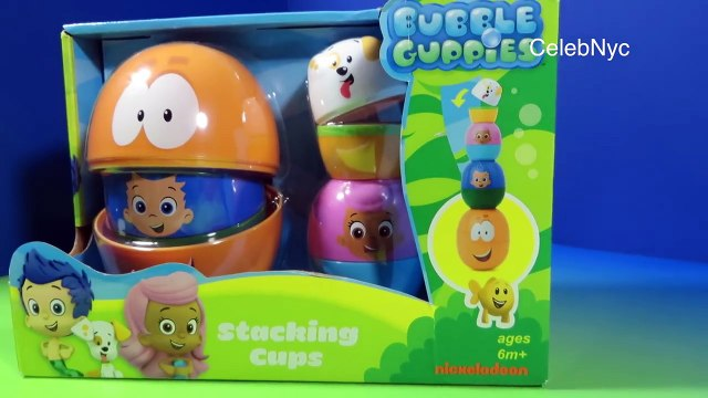 Bubble Guppies Stacking Cups Surprise Eggs Nickelodeon Mr. Grouper & Guppy Puppy by FunToy