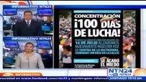 Oposición venezolana tomará Caracas en el día 100 de protestas de calle y con Leopoldo López bajo arresto domiciliario