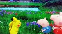 Pokemon Pikachu juega en casa de Peppa Pig | Pokemon go | Juguetes de Peppa Pig