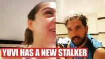 India vs West Indies: Yuvraj Singh stalked by his wife Hazel Keech, watch video   Oneindia News