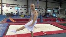Bases acclamation gymnastique sur certains tutoriel Trampoline sauts / compétences battement