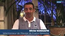 Olivier Echouafni félicite les bachelières des Pôles Espoirs Féminins