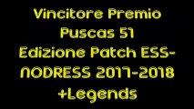 Vincitore Premio Puscas 51 Edizione Patch ESS-NODRESS 2017-2018+Legends