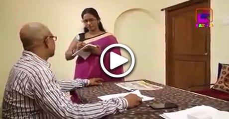 Boss teasing his secretary ... see what happens next