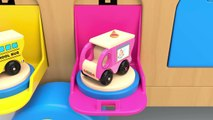 Learn Colors with Wooden Truck Toy and Street Vehicles Toys Colors Collection for Children