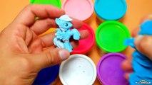 Tasses des œufs mouvement porc jouer empilage arrêter Peppa Peppa doh animation playdough grande surprise oeuf