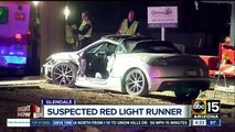 One taken to hospital after being hit by suspected red light runner in Glendale