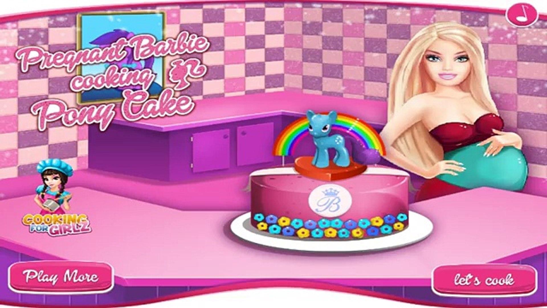 "Permainan Barbie Hamil Memasak Online Games Pregnant Barbie Cooking Pony Cake Barbie D Å‹•ç""» Dailymotion"