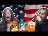 Korean Girls Taste American Snacks (ENG SUB) [Korean Bros]