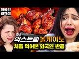 한국에서 가장매운 치킨 익스트림 볼케이노 먹어본 외국인반응 Feat.굽네치킨 한정판 신메뉴 [코리안브로스] Koreas Hottest Spicy Chicken Taste Test [Korean Bros]