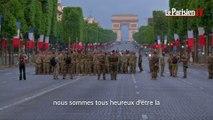 Défilé du 14 juillet : les militaires américains  répètent au petit matin