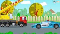 Dessin animé pour les enfants - Voiture de Police pour bébés - Vidéo Éducative de Voitures