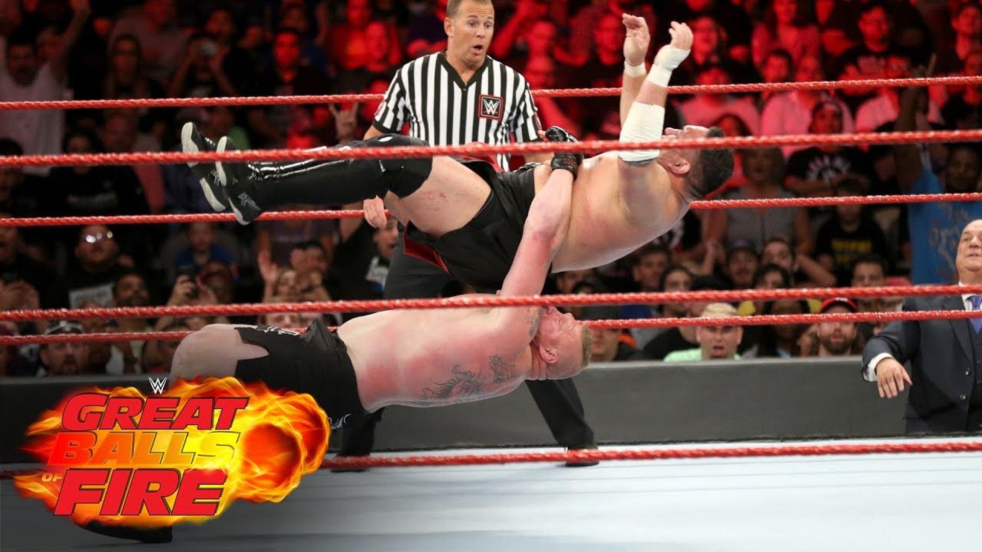 Brock Lesnar vs Samoa Joe WWE Great Balls of Fire, 9 July, 2017 - Universal Championship - WWE