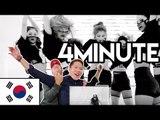 Korean Reaction - 4MINUTE -미쳐 Crazy [Korean Bros]