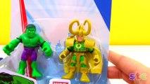 Marvel Super Hero Adventures Thor & Iron Patriot help Ironman & Spiderman defeat Loki & Ul