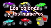 Facture les couleurs escroquerie avec Apprendre espanol jouet et voitures de course couleurs camion max pete