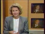 Antenne 2 - 9 Janvier 1991 - Fin Flash Infos (Claire Chazal), teaser, pubs, speakerin (Olivier Minne)
