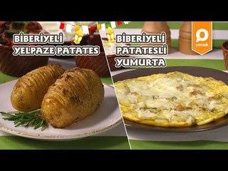 Biberiyeli Yelpaze Patates ve Biberiyeli Patatesli Omlet Tarifi