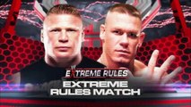 WWE John Cena vs Brock lesnar Extreme Rules 2012 Full Match Highlight Most Extreme Match In WWE