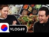 [VLOG#9] Eating Korean Raw Fish & Drinking Soju [Korean Bros]