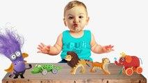 Et animaux bébé mal pleurs dinosaure léléphant doigt gorille réal jouets sauvage Il y a lion