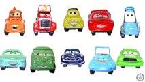 Dix des voitures enfants les couleurs comte pour enfants Apprendre nombres les tout-petits jouets avec Disney 2 1
