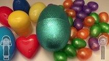Un et un à un un à couleurs Oeuf des œufs énorme dans géant Apprendre mixte mélange primaire avec la surprise bouillie