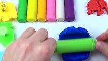 Et les couleurs Créatif léléphant pour amusement amusement enfants Apprendre Lion moules jouer jouets Doh animal