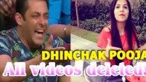 Dhinchak Pooja channel suspended from youtube,ढिंचैक पूजा पर भारी पड़े कथप्पा, डिलीट किए गए वीडियो