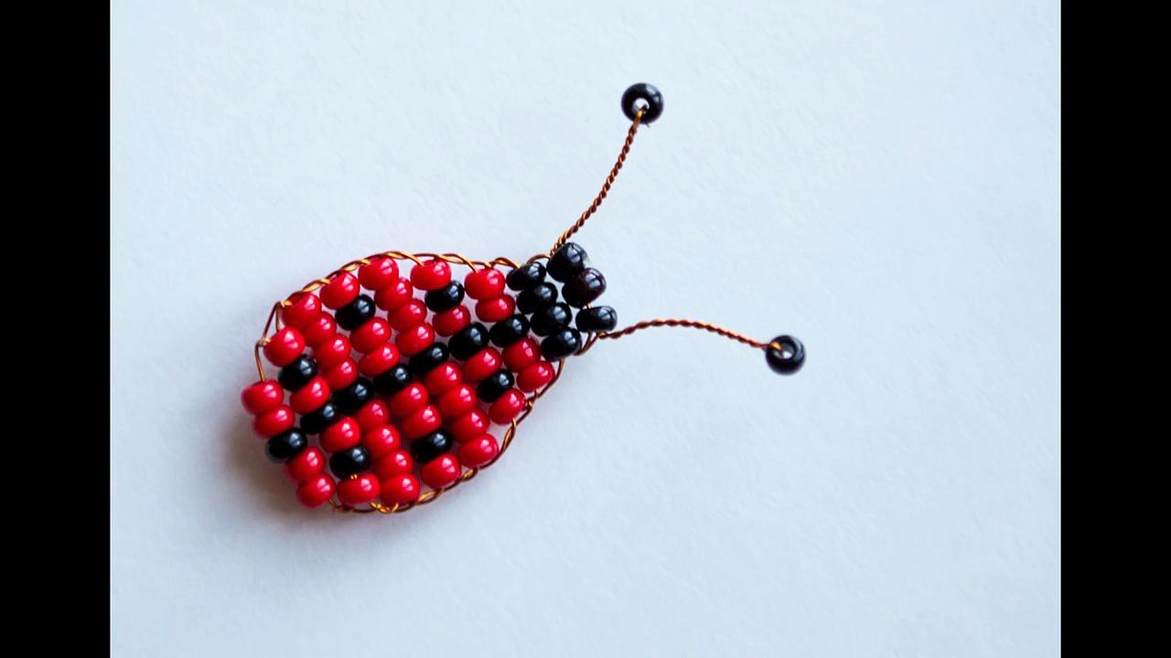 Para perlas de perlas mariquita animales Masterclass principiantes tejer Dios