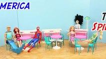 Un et un à un un à Amérique devient par par capitaine poupée pour Jeanne homme marie homme araignée les trains avec Barbie