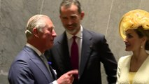 King and Queen of Spain meet Prince Charles and Camilla