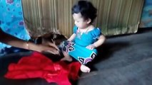 sreymeas baby funny at the evening March 19, 2017