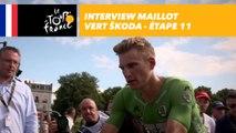 L'interview du maillot vert ŠKODA - Étape 11 - Tour de France 2017