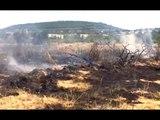 Varcaturo (NA) - Incendio sul litorale, arrestato piromane (12.07.17)