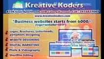 Website Designers and SEO services in Kurnool- Kreative Koders