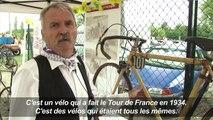 Exposition de vélos anciens sur le Tour de France