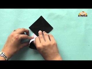 Origami in Marathi - Easy way to make Panda Face
